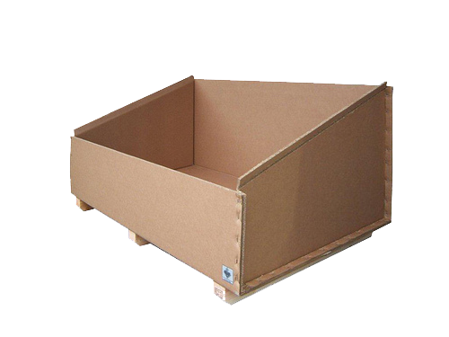 Open top triple wall box with wood base