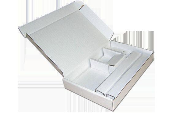 White custom cardboard box