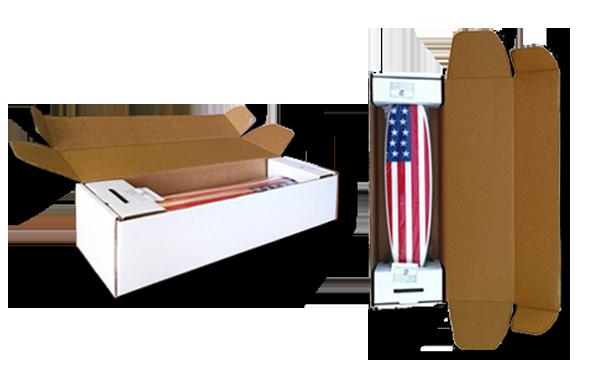 Custom corrugated box with tuck top
