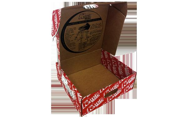 Custom colored corrugated box with logo