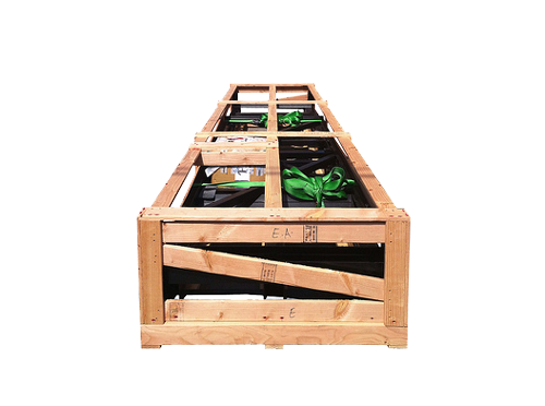 low profile wood crate for transit