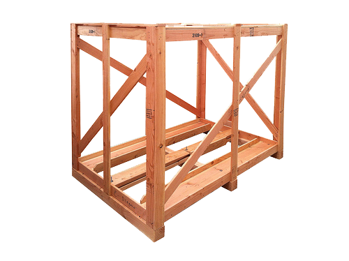 wood crate with ramps