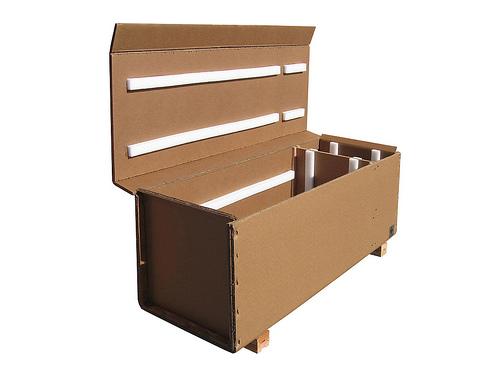 Fold top triple wall box with foam inserts