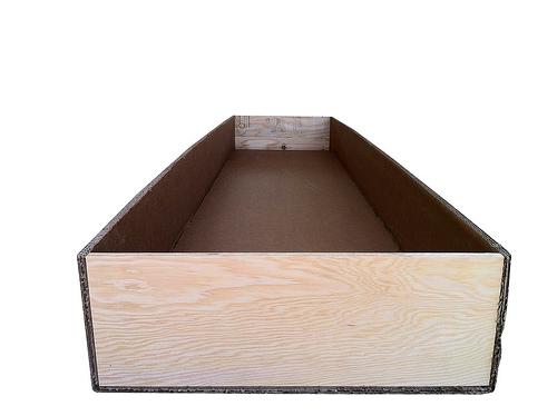Triple wall custom box with wood sideing