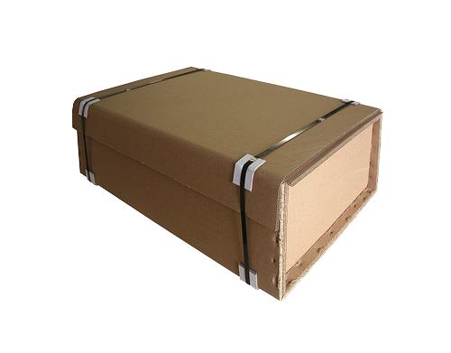 Closed triple wall cardboard box