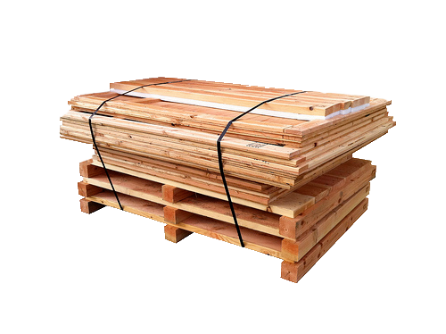 wooden crate sides and ends banded for delivery