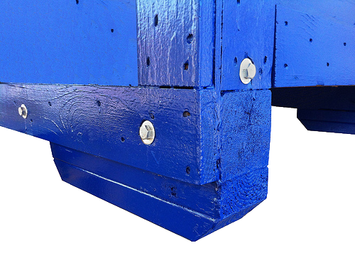painted wooden crate deck