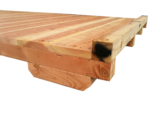 heavy duty deck on a wooden crate