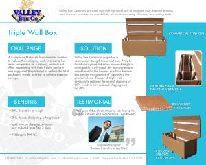 tri wall box case study