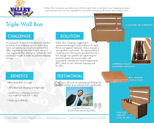 triple wall box case study