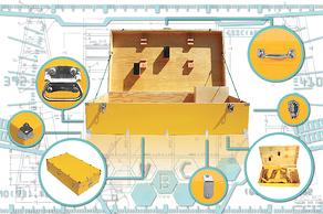 reusable shipping crates yellow
