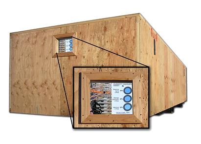 wooden crates observation port