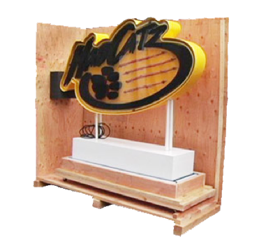trade show box with pedastal