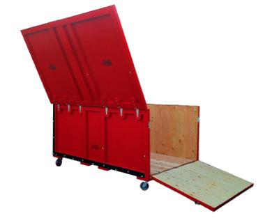 tradeshow box split lid