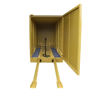 trade show box with ramp