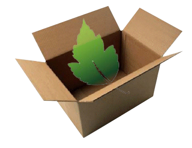 Recycled custom cardboard box