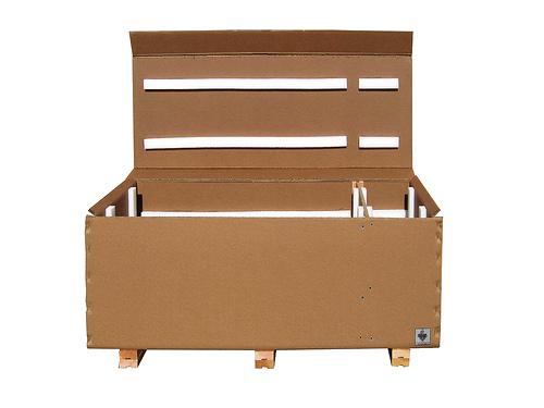 triple wall box with foam strips