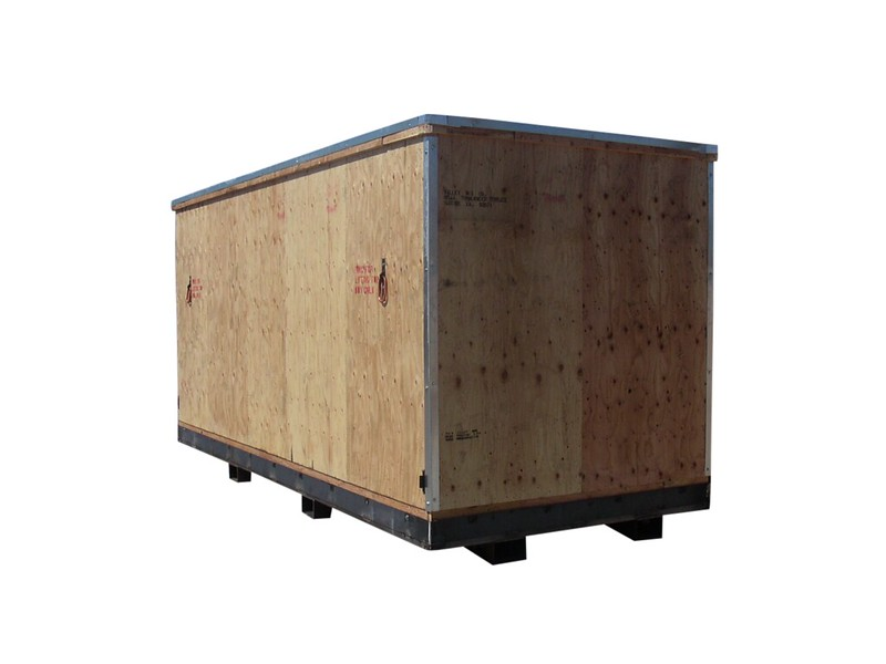 heavy duty wooden crate four way entry