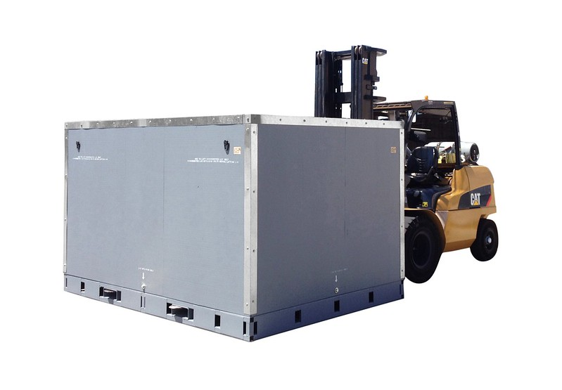 shipping crate steel reinforced