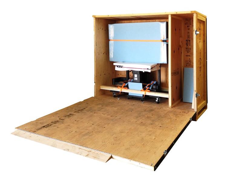 crate packing internal foam tv straps saddle