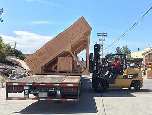 San Diego crating manufacturer Canted Cradle on truck