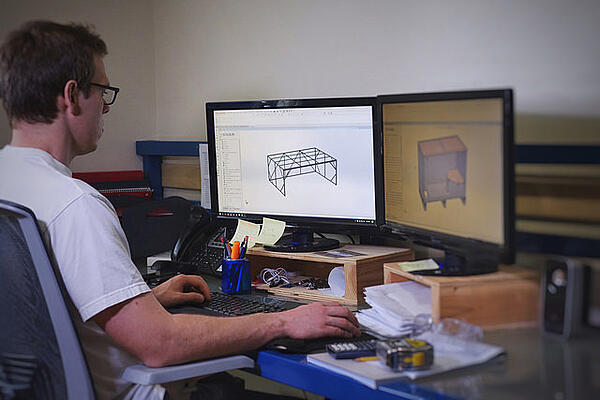 wooden crate solidworks design