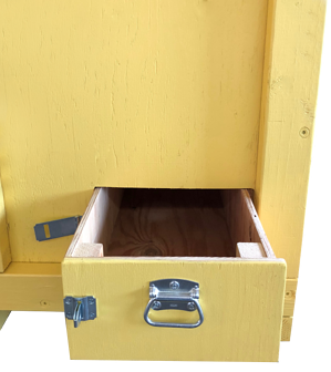 trade show crate with storage drawer