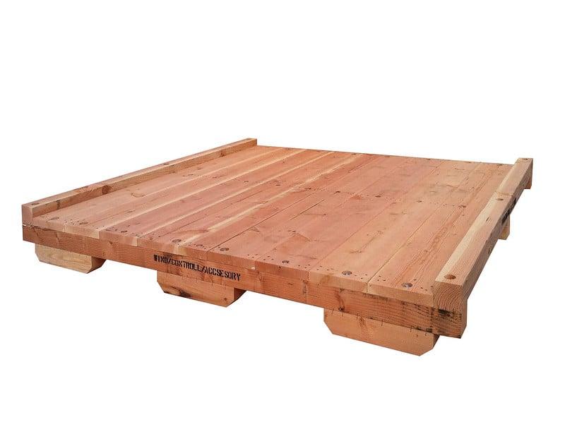 Heavy duty wooden crate base