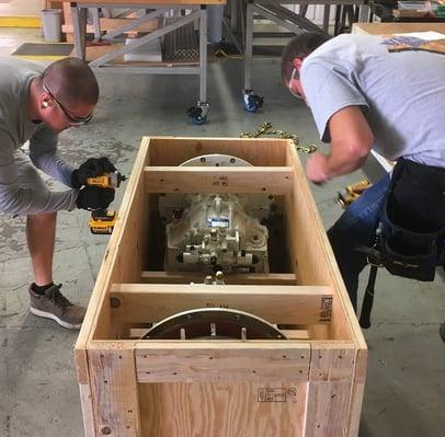 packing crate blocking and bracing