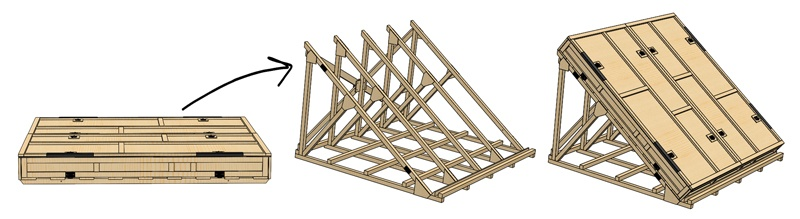 San Diego crating manufacturer canted-cradle-removable-top-box