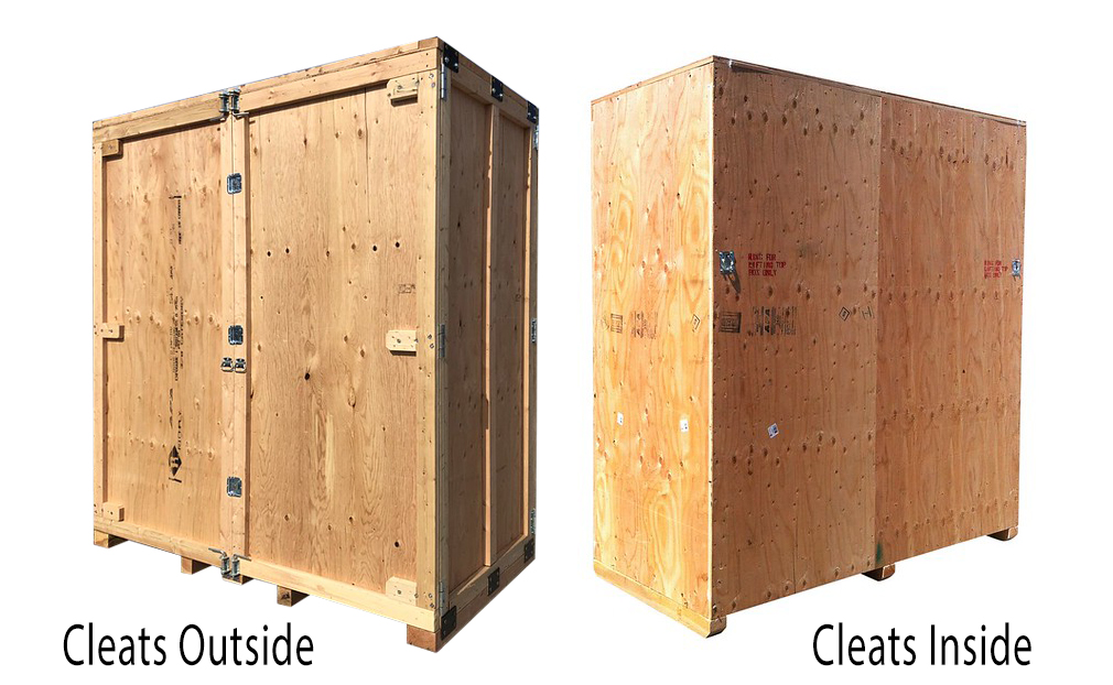 reusable shipping crate cleats inside and cleats outside