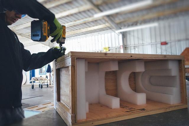 crate packing in custom foam inserts