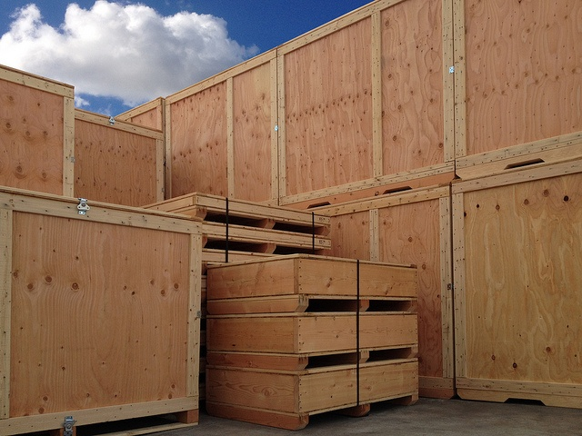 trade show shipping crate wood crate