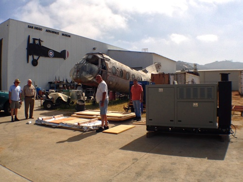 on-site-pack-job-San-diego-air-and-space-museum packing crates