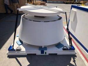 aerospace packaging CCAT foam saddle
