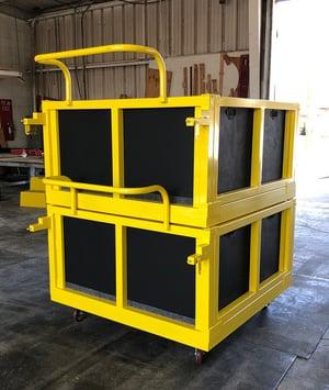 aerospace packaging stacking cart