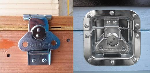 recessed link lock versus surface mount