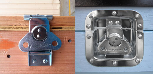 recessed link lock versus surface mount