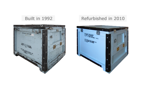 reusable crates refurbished