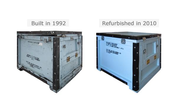 reusable crates refurbished