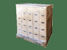 wooden crates pallet wrap