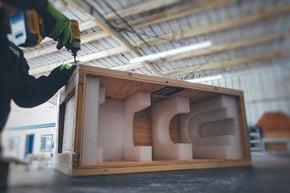 wooden crates foam inserts