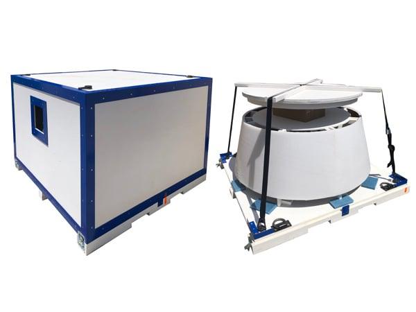 aerospace packaging CCAT-nozzle-crates