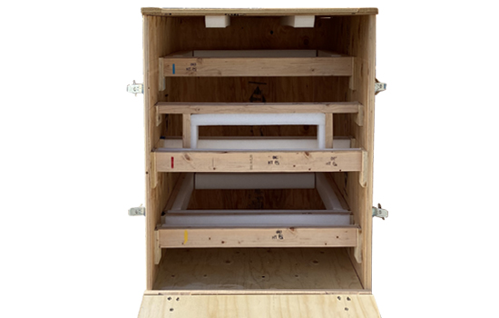 custom wood shipping crates with removable blocking bracing