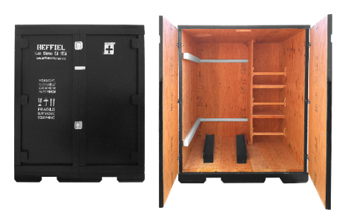 trade show shipping crate