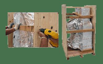 wooden crates block brace