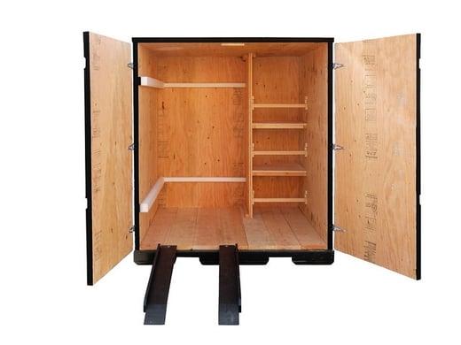 ramps shelves doors wooden containers