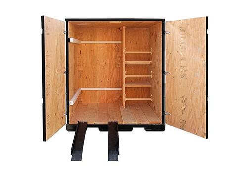ramps shelves doors wooden containers