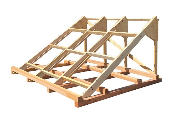 wood canted cradle