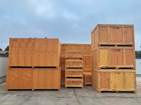 wooden containers in yard